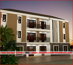 Desain Rumah Kost 3 Lantai